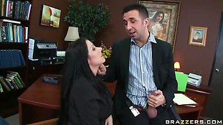 Big tits secretary sucking big cock