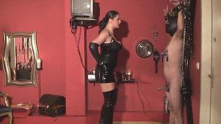 LEATHER OPERA GLOVED-LADY ASMONDENA-WHIPS AGAIN HD