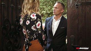 Lecherous milf Mona Wales has an affair with one neighbor
