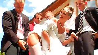 Gangbang bride outdoor