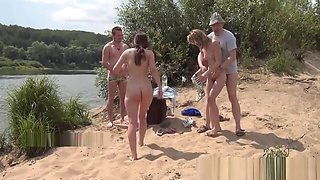 Crazy beach group sex fun!