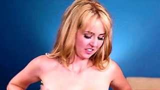 Sexy blonde tasted her hired latina nurse milk and pussy