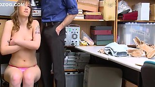 ShopLyfter - Big Titty Brunette Gets Punished With Cock