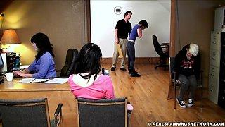 school corporal punishment paddling- 3 girls