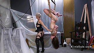 blonde dominatrix anal fucks her client