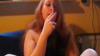 Incredible Amateur movie with Smoking, Solo scenes