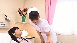 Subtitled Japanese lesbian nurse with admitted patient