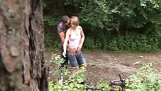 Naughty Couple Fucking In The Woods