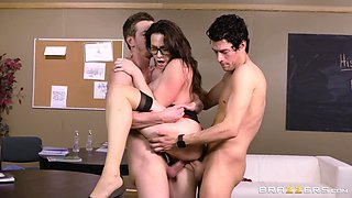 Horny MILF Chanel Preston can take care of three cocks at the same time
