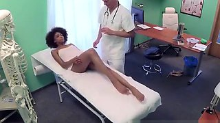 Ebony Cutie Lora Corazon Blows Well Hung Doctor