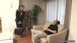 Seductive Asian chick Yurika gets her hairy pussy fucked