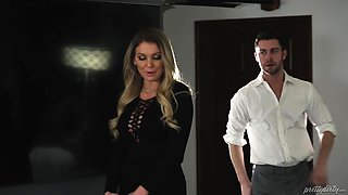 Stunning chick Kenzie Taylor is great at riding a hard prick
