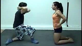 wrestling facesitting
