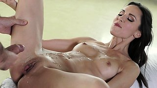 Jizz sprayed lovely babe