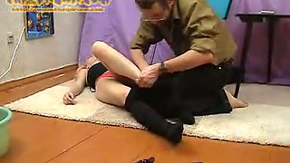 Depraved blonde bitch Liana vomits and gets dressed