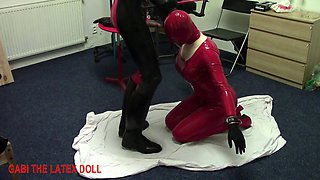 spanked and fucked neck rubber doll