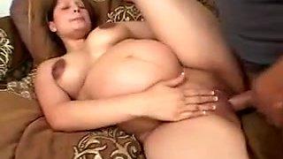 Pregnant Slut Gets Up To Fuck