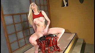 Kinky blond is stunning from some severe machine fuck