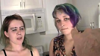 Chubby lesbian gothic pissing emo girls
